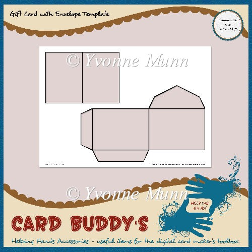 Gift card with envelope template cu pu instant for Card making templates free download