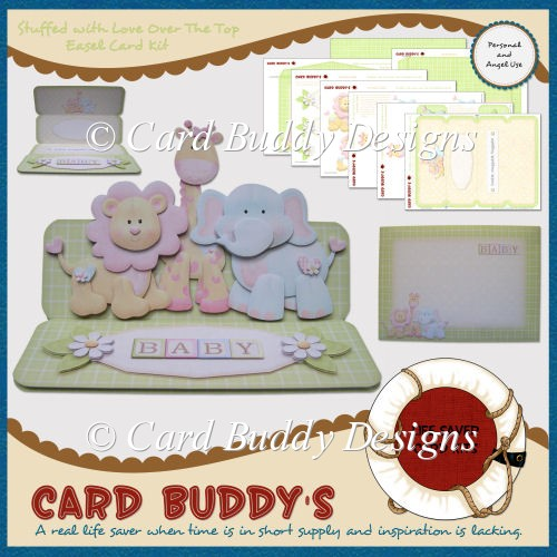 Stuffed with Love Over The Top Easel Card Kit - Click Image to Close