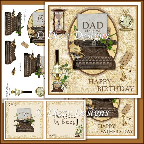 Best DAD of all time - Card Front and Inserts - Click Image to Close