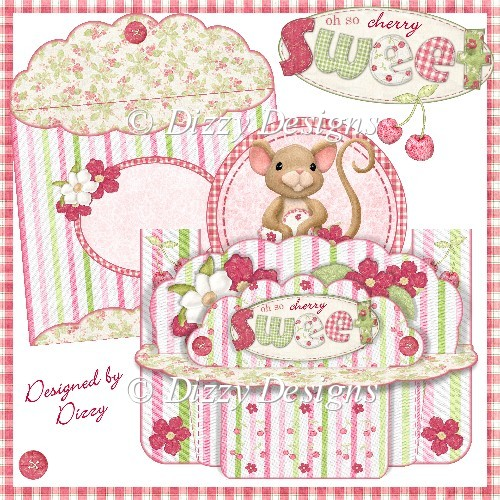 Cherry Sweet Shelf Card - Click Image to Close
