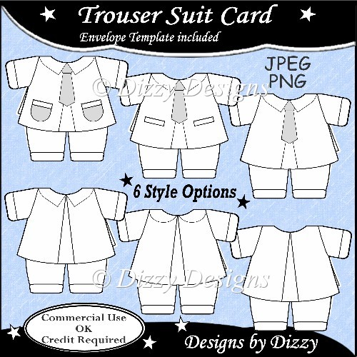 Trouser Suit Template - Click Image to Close