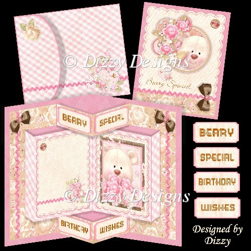 Beary Special Pop Out Card - Click Image to Close