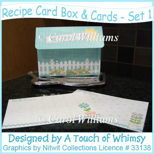 Recipe Card Box & Cards - Set 1 - Click Image to Close