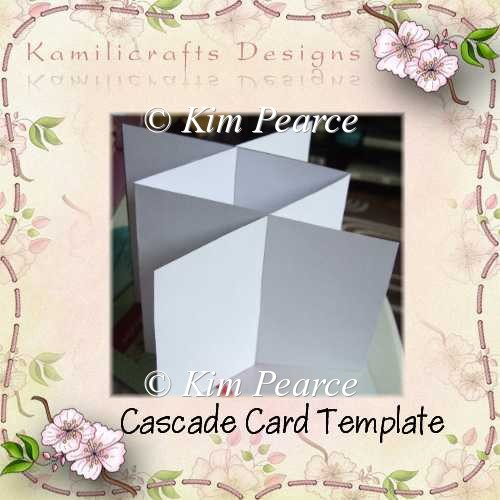 Cascade card template instant card making downloads for Card making templates free download
