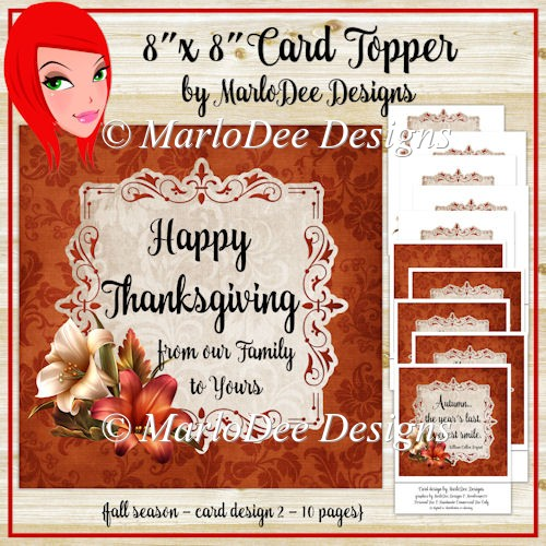 Light Brown 8x8 Thanksgiving, Birthday and Autumn Card Kit (BT) - Click Image to Close