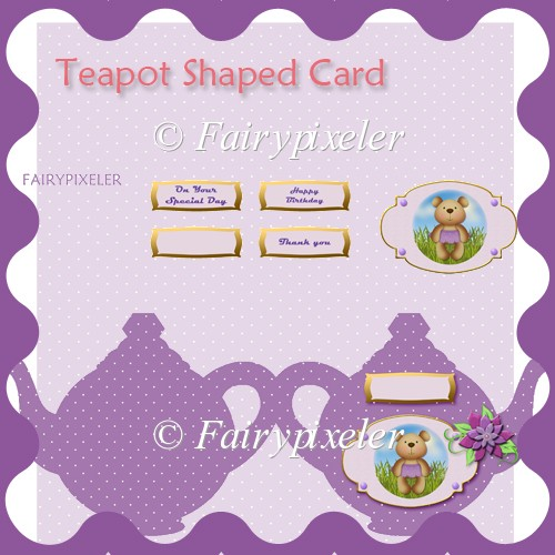 Teapot Shaped Card - Click Image to Close