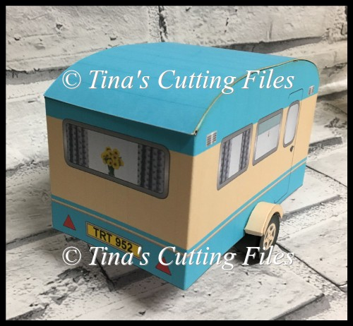 Retro Caravan Model With Furnishings And Gift Box HANDCUT PDF - Click Image to Close