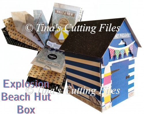 Beach Hut Explosion / Exploding Box with extras - Click Image to Close