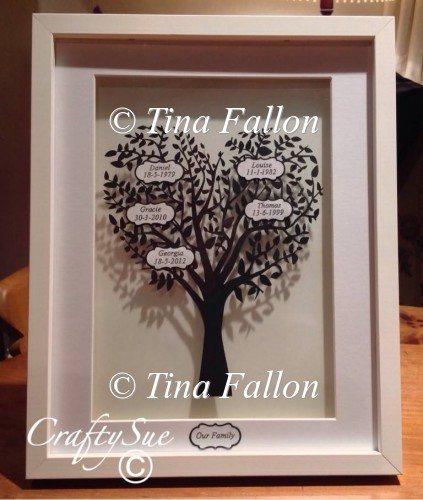Heart Shaped Family Tree to Add Own Names To - Click Image to Close