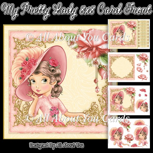My Pretty Lady Card Front - Click Image to Close