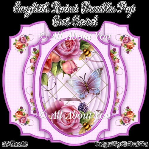 English Roses Double Pop Out Card - Click Image to Close