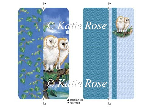 "Water's |Edge ""Night Owls"" Bookmark Sheet - Click Image to Close"
