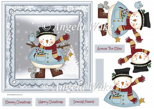 Snowman and friends - Click Image to Close