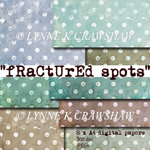 FRACTURED SPOTS - 8 sheets of printable A4 digital papers CUOK - Click Image to Close