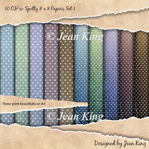 10 OH so Spotty 8 x 8 Papers Set 1 - Click Image to Close