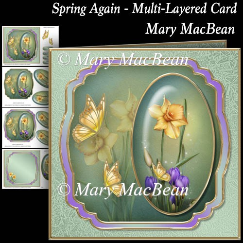 Spring Again - Multi-Layered Card - Click Image to Close