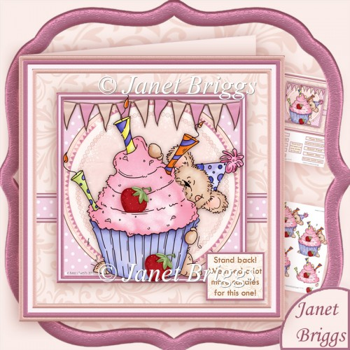 Stand Back We Need a Lot More Candles for This One Decoupage Kit - Click Image to Close