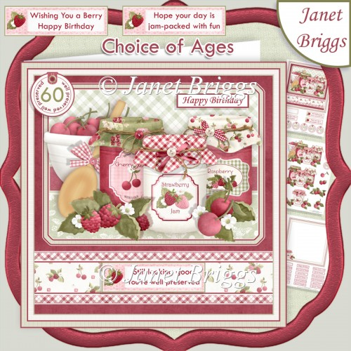 YOU'RE WELL PRESERVED Jam Decoupage Ages & Insert Kit - Click Image to Close