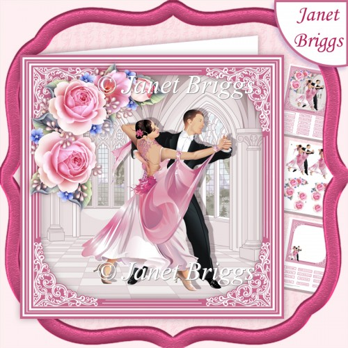 STRICTLY COME DANCING 7.5 Decoupage & Insert Kit - Click Image to Close