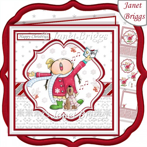 FA LA LA LA LA Christmas 7.5 Decoupage & Insert Card Kit - Click Image to Close