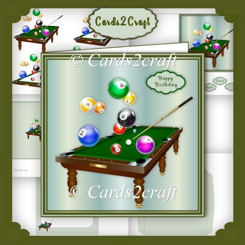 Billiards table card set - Click Image to Close