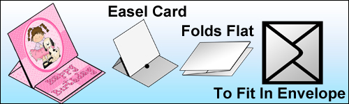 Easel Card - : Instant Card Making Downloads